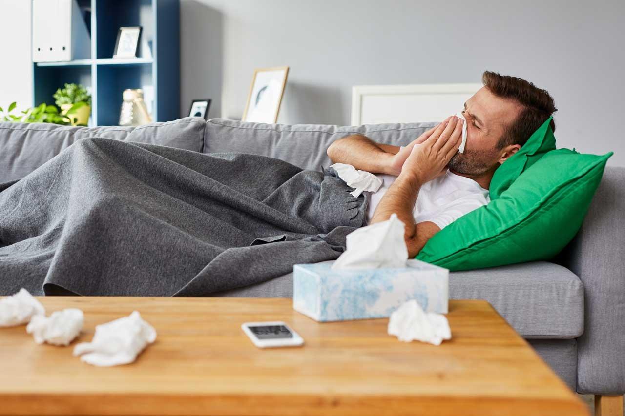 Das Immunsystem wird schwach wenn man zu wenig schläft.