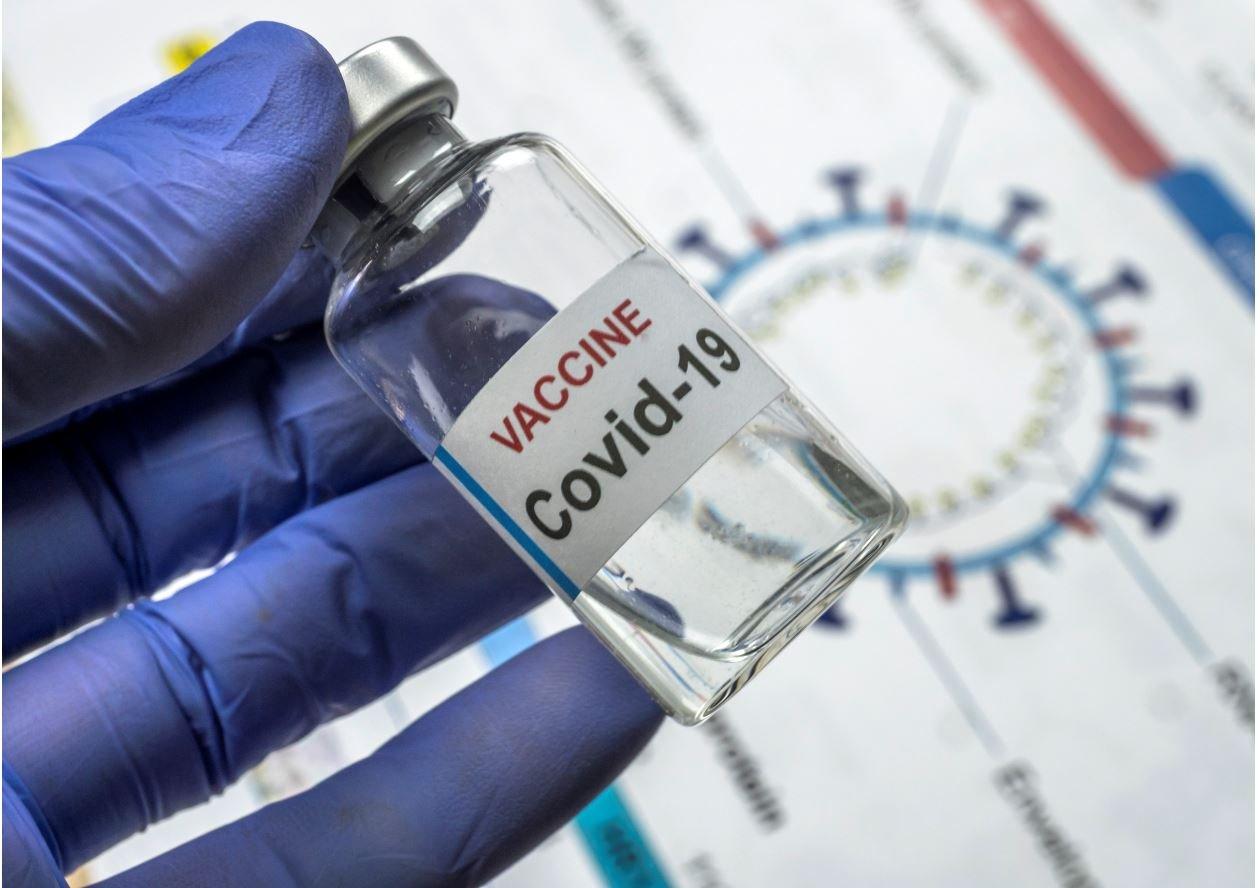 Flasche mit Corona-Impfstoff