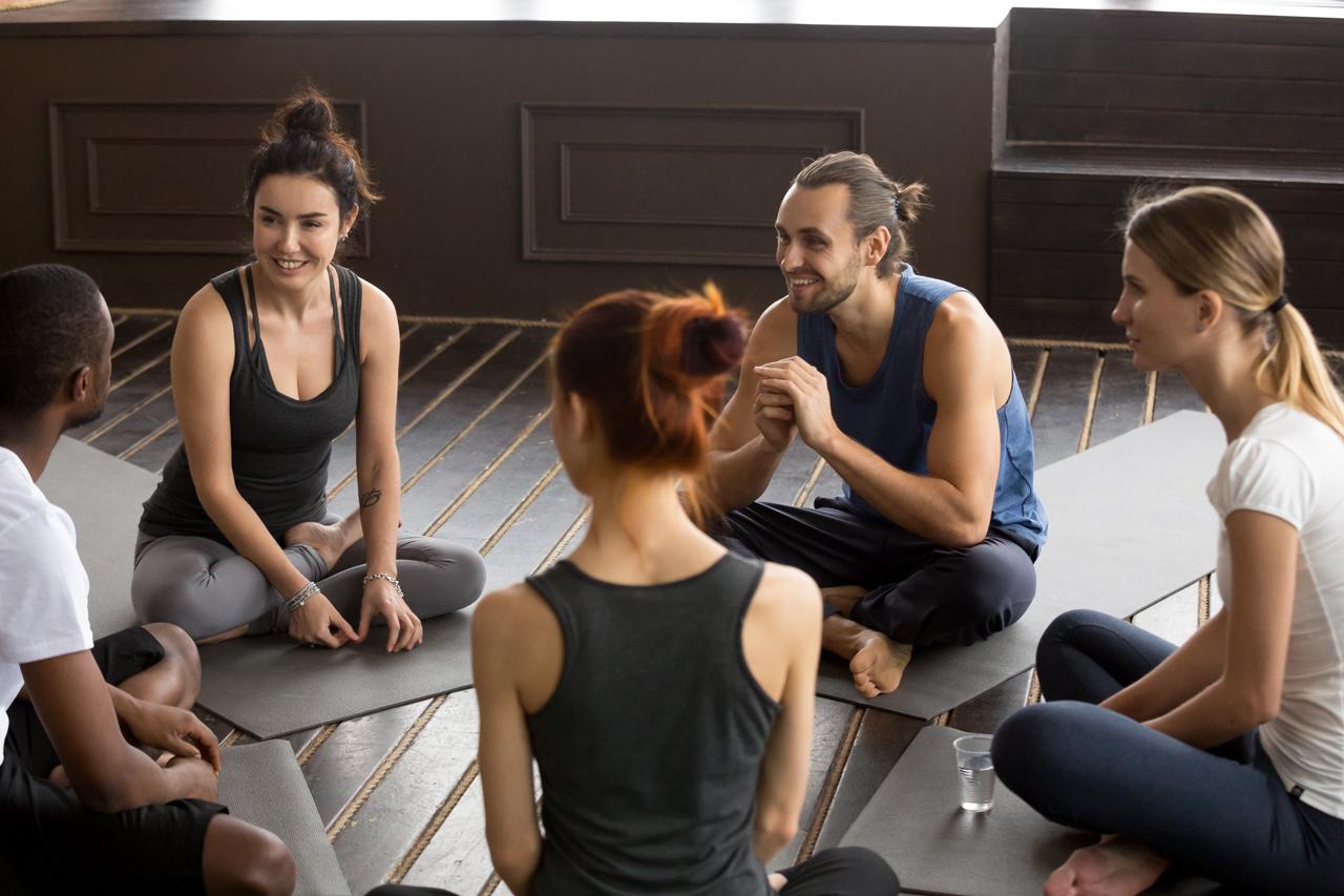 Durch die geführte Meditation erreicht man einen Entspannungszustand.