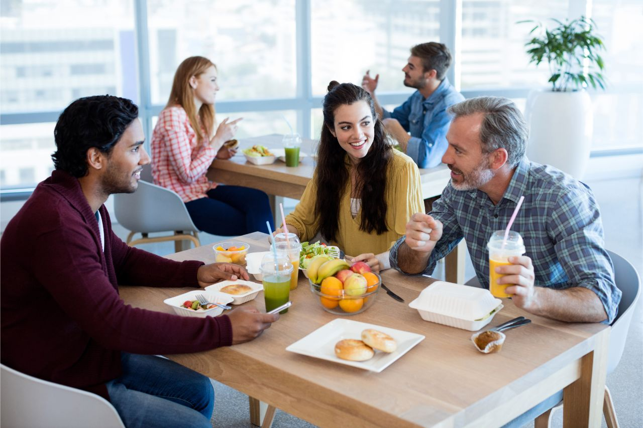 Die Mitarbeitergesundheit wird durch ausgewogene Ernährung gefördert