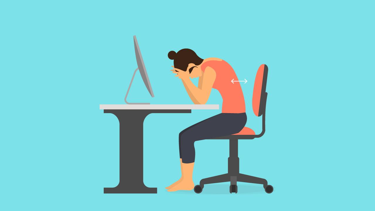 Schreibtisch auf Bauchhöhe für die ideale Sitzposition